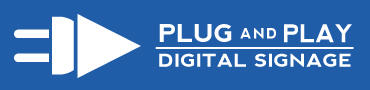 plug and play digital signage logo